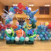 中士幌児童ステーション装飾  水族館
